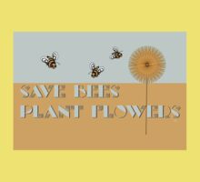 Save Bees Plant Flowers Baby Tee