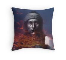 soul of the warrior naiche Throw Pillow