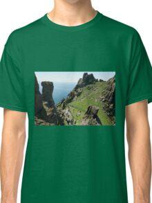 Skellig Michael, UNESCO World Heritage Site, Kerry, Ireland. Star Wars The Force Awakens Scene filmed on this Island. wild atlantic way Classic T-Shirt