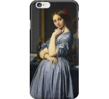 Jean-Auguste-Dominique Ingres - Comtesse D Haussonville. Woman portrait: sensual woman, girly art, female style, pretty women, femine, beautiful dress, cute, creativity, love, sexy lady, erotic pose iPhone Case/Skin