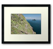 Skellig Michael, UNESCO World Heritage Site, Kerry, Ireland. Star Wars The Force Awakens Scene filmed on this Island. wild atlantic way Framed Print