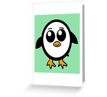 Chibi Penguin Character  Greeting Card