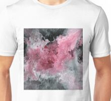 Abstract Acrylic Painting RED BLACK and WHITE Unisex T-Shirt