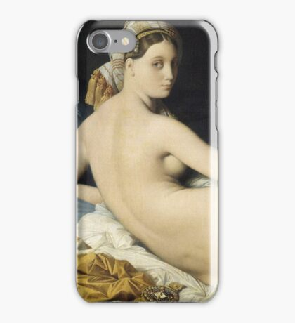Jean-Auguste-Dominique Ingres - La Grande Odalisque. Woman portrait: sensual woman, girly art, female style, pretty women, femine, beautiful dress, cute, creativity, love, sexy lady, erotic pose iPhone Case/Skin