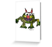 Funny Cartoon MonSTAR Monster 006 Greeting Card