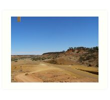The narrow sealed road from Boulia, Cawnpore lookout. Cent. Que. Art Print