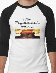 Christine - 1958 Plymouth Fury (Fire) Men's Baseball ¾ T-Shirt