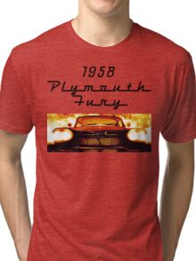 Christine - 1958 Plymouth Fury (Fire) Tri-blend T-Shirt