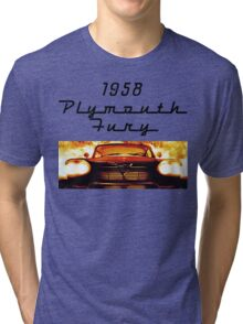 Christine - 1958 Plymouth Fury (Fire) Tri-blend T-Shirt