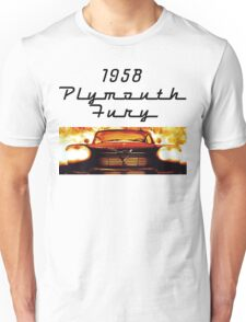 Christine - 1958 Plymouth Fury (Fire) Unisex T-Shirt