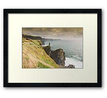 cliffs of moher scenic sunset landscape seascape ireland Framed Print