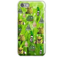 Green theme meme iPhone Case/Skin