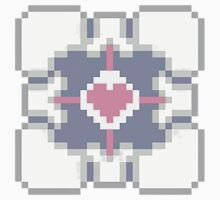 Portal - Companion Cube Pixl8ed Kids Tee