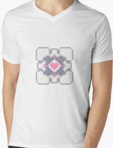 Portal - Companion Cube Pixl8ed Mens V-Neck T-Shirt
