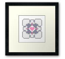 Portal - Companion Cube Pixl8ed Framed Print