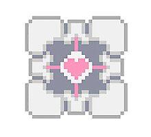Portal - Companion Cube Pixl8ed Photographic Print