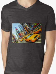 new york times square nyc skyline cityscape taxi cab T-Shirt
