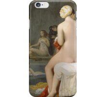 Jean-Auguste-Dominique Ingres - The Small Bather. Woman portrait: sensual woman, girly art, female style, pretty women, femine, beautiful dress, cute, creativity, love, sexy lady, erotic pose iPhone Case/Skin