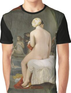 Jean-Auguste-Dominique Ingres - The Small Bather. Woman portrait: sensual woman, girly art, female style, pretty women, femine, beautiful dress, cute, creativity, love, sexy lady, erotic pose Graphic T-Shirt