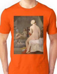 Jean-Auguste-Dominique Ingres - The Small Bather. Woman portrait: sensual woman, girly art, female style, pretty women, femine, beautiful dress, cute, creativity, love, sexy lady, erotic pose Unisex T-Shirt