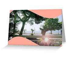 porch by the sea Greeting Card