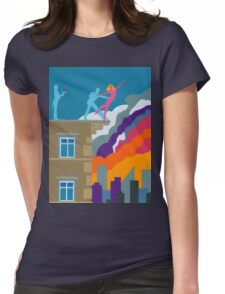 Dancing on the Edge of Eternity Womens Fitted T-Shirt