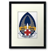 254th Helicopter Ambulance - Dust-Off Framed Print