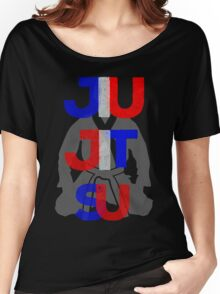 Red, White, and Blue Jitsu Women's Relaxed Fit T-Shirt