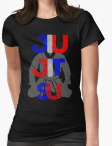 Red, White, and Blue Jitsu Womens Fitted T-Shirt