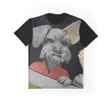 Photograph of Ceramic Schnauzer Face by Artist Edrian Thomidis Graphic T-Shirt
