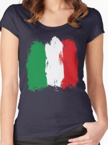 Italy - Paint Splatter Women's Fitted Scoop T-Shirt