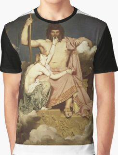 Jean-Auguste-Dominique Ingres - Jupiter And Thetis. Lovers portrait: sensual woman, woman and man, kiss, kissing lovers, love relations, lovely couple, family, valentine's day, sexy, romance Graphic T-Shirt