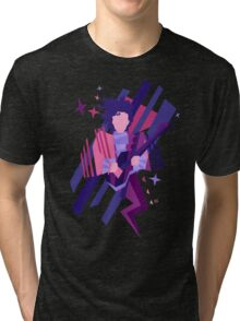 Purple Ghost Tri-blend T-Shirt