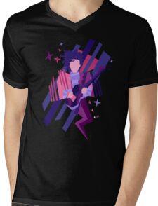 Purple Ghost Mens V-Neck T-Shirt
