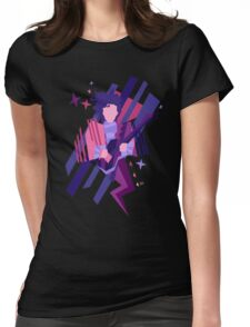 Purple Ghost Womens Fitted T-Shirt
