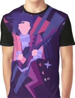 Purple Ghost Graphic T-Shirt