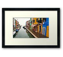 Colourful Burano Framed Print