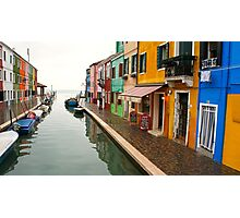 Colourful Burano Photographic Print