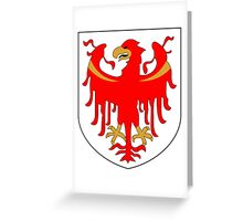Coat of Arms of South Tyrol  Greeting Card