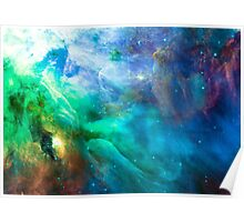 Orion Nebula [Sea of Green] Stickers and Shirts Poster