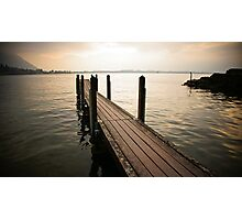 Lakeside Evening Photographic Print
