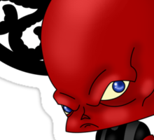 Chibi Red Skull Sticker