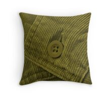 Green Corduroy 2 Throw Pillow