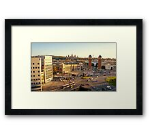 Afternoon Street Scene Framed Print