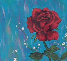 rose pillow by Audrey Metcalf