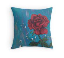 rose pillow Throw Pillow