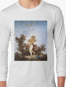 Jean-Honore Fragonard - Love The Sentinel 1790. Child portrait: cute baby, kid, children, pretty angel, child, kids, lovely family, boys and girls, boy and girl, mom mum mammy mam, childhood Long Sleeve T-Shirt