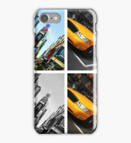 NYC Times Square. New York City Taxi. iPhone Case/Skin