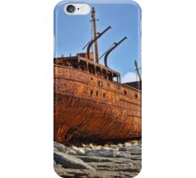 rusty old ship aran islands, county clare, ireland iPhone Case/Skin