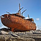 rusty old ship aran islands, county clare, ireland by Noel Moore Up The Banner Photography